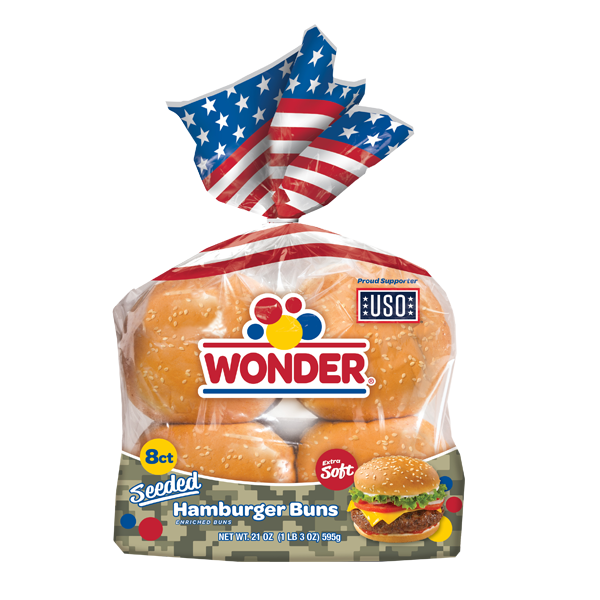 Wonder Hamburger Buns 8 Pack 400g